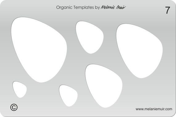 No 7 Clear Acrylic Template/Stencil for Polymer/Metal Clay/Jewellery/Crafting - a lovely pebble shape for brooches, earrings, necklaces and pendants - in stock - £9