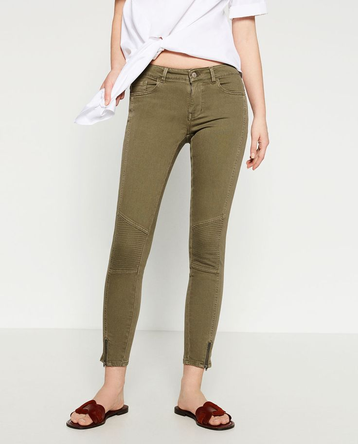MID-RISE BIKER TROUSERS-View all-WOMAN-NEW IN | ZARA United States