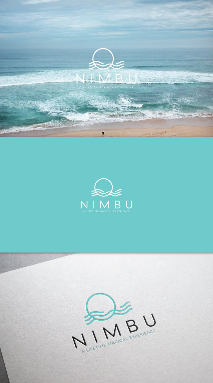 29 circular logos that deserve a round of applause. Luxury home brand Nimbu pairs a simple blue circle with abstract flowing waves and a minimal sans serif typeface. Logo design by allyna #branding #minimalism