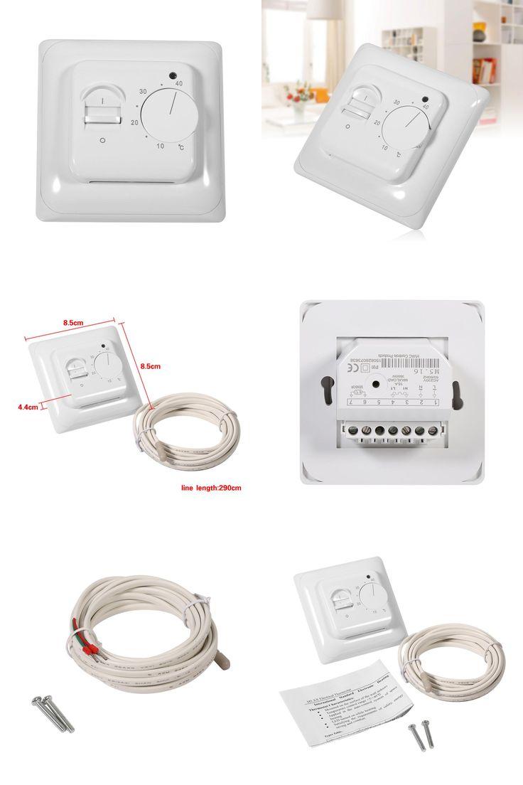 [Visit to Buy] 230V 5~40C Electronic Underfloor Heating Temperature LED PVC  Manual