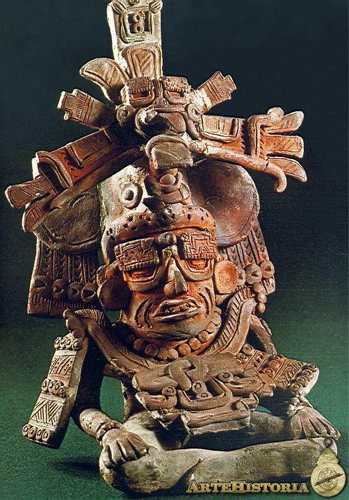 Urna funeraria con el dios viejo. Cultura Zapoteca (Monte Albán, México) Autor: Fecha: 400-600 Museo: Museo Nacional de Antropología de México