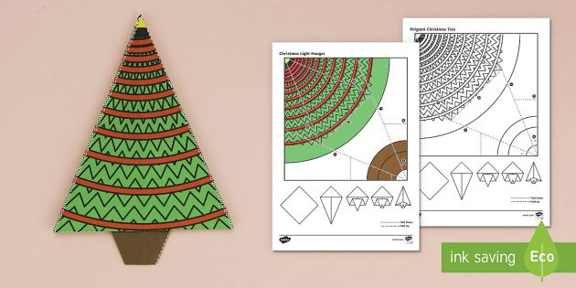 Simple Origami Christmas Tree Paper Craft