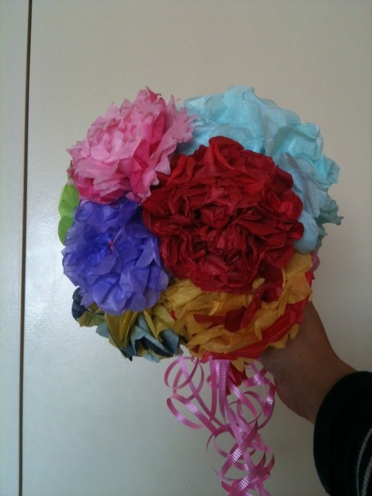 7 best tissue paper flowers images on pinterest tissue paper tissue paper bouquet mightylinksfo