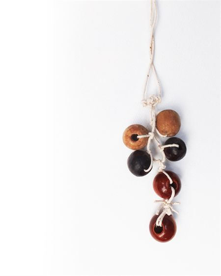 Wooden bead natural necklace.