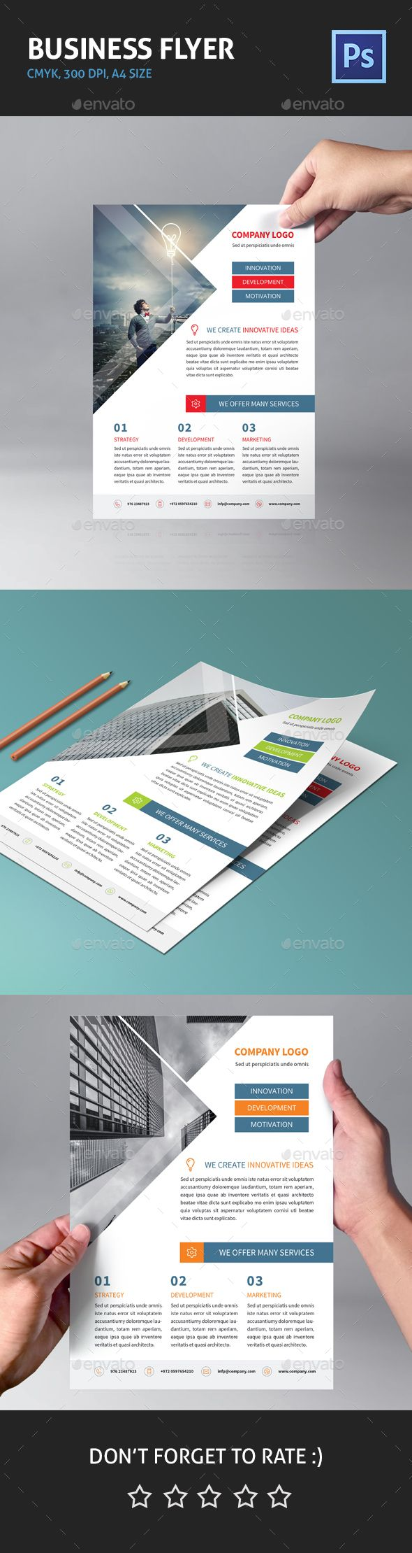 Corporate Business Flyer 01 - Corporate Flyer Template PSD. Download here: http://graphicriver.net/item/corporate-business-flyer-01/15348569?s_rank=3&ref=yinkira