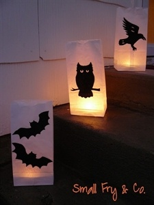 simple and spooky halloween paper bag luminaries light your walkway or driveway for a spooky
