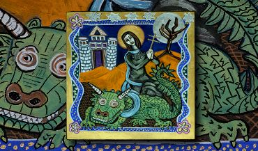 Saint Martha the Legend and the Tarasque Art Icon by Amy Adams