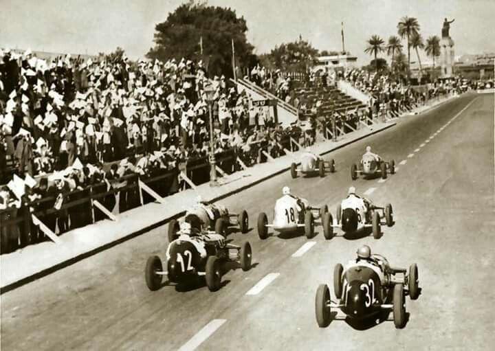 سباق السيارات الدولي في مصر 1947 Old Egypt Cairo Egypt
