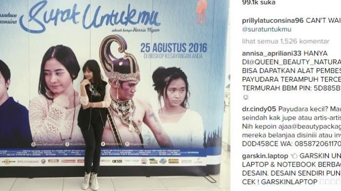 Prilly Latuconsina - Netizen Protes di Instagram Surat Untukmu, Inilah Penyebabnya