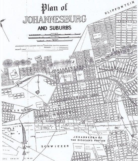 Plan of Johannesburg and suburbs 1895