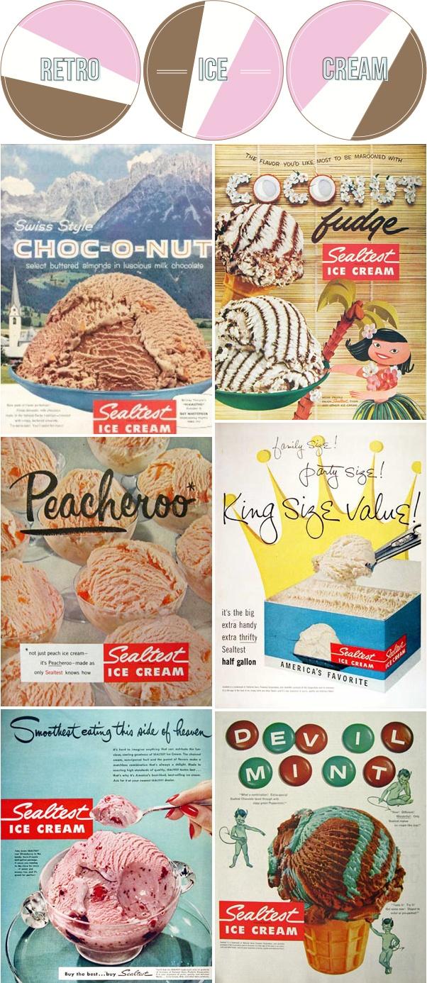 vintage ice cream ads #summer