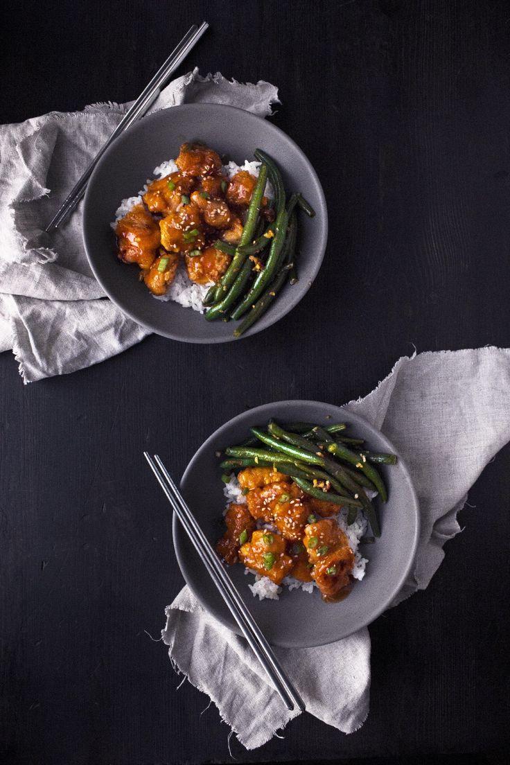 Orange Chicken With Ginger Garlic Green Beans Recipe