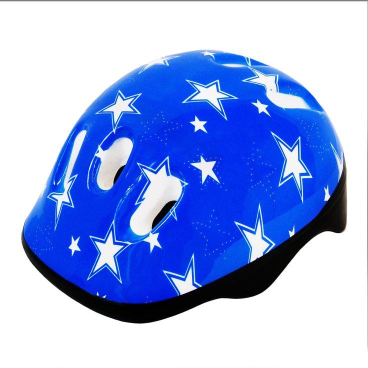 Kids Bike Cycling Helmet Blue Stars Size M