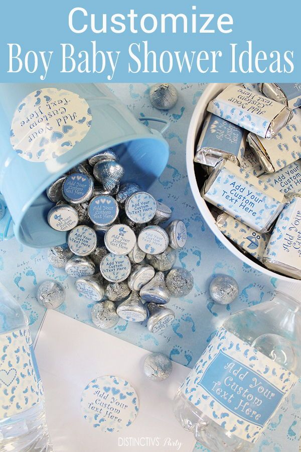 Design Your Own Personalized Blue Baby Shower Favors And Party