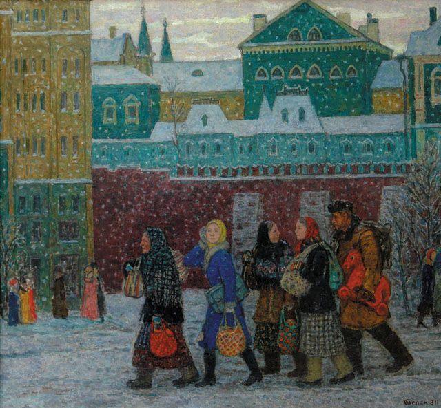 ГУМ, ЦУМ, Детский мир. Владимир Телин, 2004-2008. Холст, масло