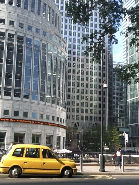 -In front of Thomson Reuters office in Canary Wharf London