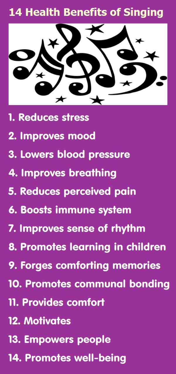 Infographic: 14 Health Benefits of Singing | Infographic A Day