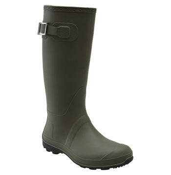 Olive Green Wellies  Olive green is a good, neutral color to pair with fall outfits. Mix and match these green boots with red or navy for a colorful fall look.   45$ at DSW.