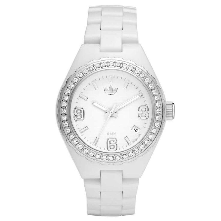 Adidas ADH2500 Women's Cambridge White Dial Crystal Plastic Strap Watch