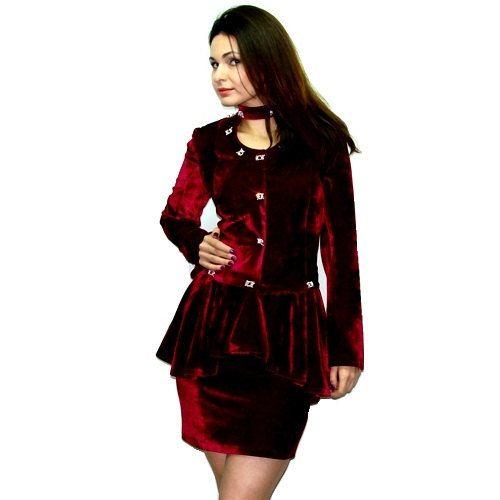 Costume élégant / velours Bordeaux / tunique velours / fête costume avec cristaux Taxim