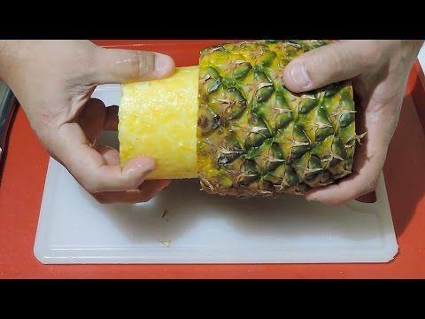 Como descascar abacaxi em 2 minutos - YouTube