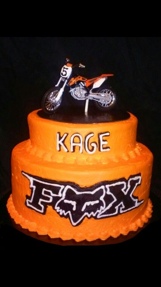 Fox racing / dirtbike cake