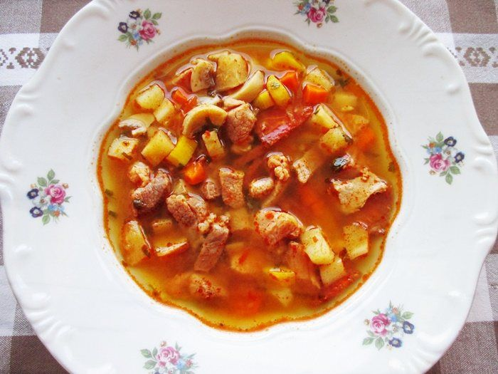 Outlaw's soup is a tasty and hearty dish of the Hungarian cuisine. Its origin isn't clearly known, but the outlaws of the 18-19th century probably cooked something like that.