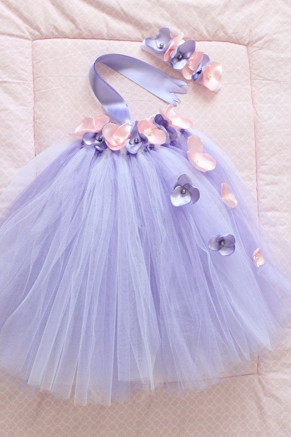 Gorgeous Pink and Lavender Petal Flower Girl by AverysCoutureLook