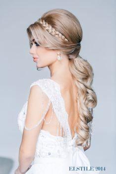 Fonott menyasszonyi frizura 10 , Bridal hair braids 10 www.elstile.ru