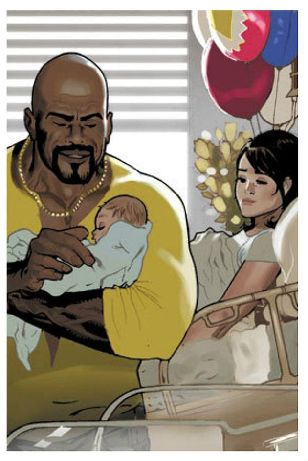 Luke Cage and Jessica Jones and Danielle by Daniel Acuña