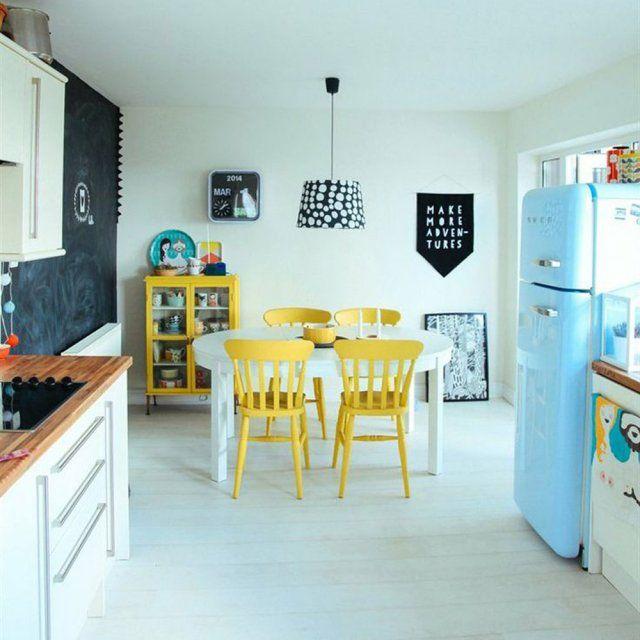 1000 ides sur le thme frigo retro sur pinterest rtro crdences et decoration cuisine - Frigo Bleu