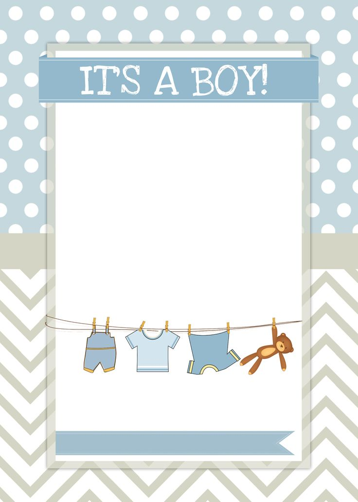 baby boy shower invite