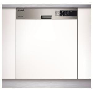 BRANDT - VH1200X _ Lave-vaisselle intégrable - 6 températures - 7 programmes dont OptiA 60 min, Flash 30 min, Intensif 70°C et Auto 50-65°C - Départ différé 3-6-9 heures + synchronisation Heures Creuses - Sécurités anti-fuite et anti-débordement - Bandeau inox.