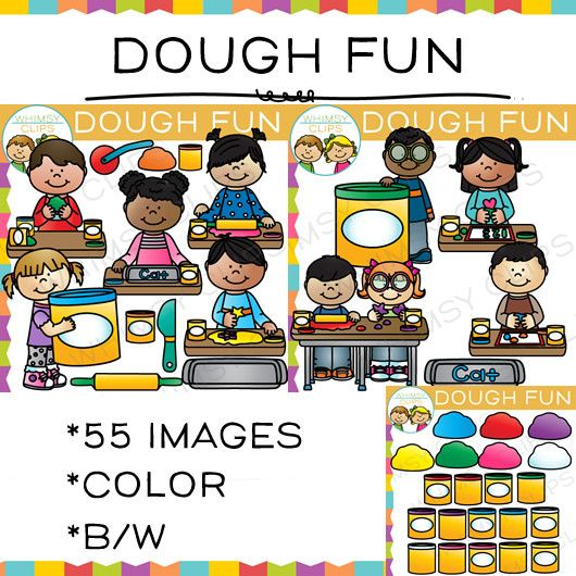 Dough Fun Clip Art , Images & Illustrations | Whimsy Clips