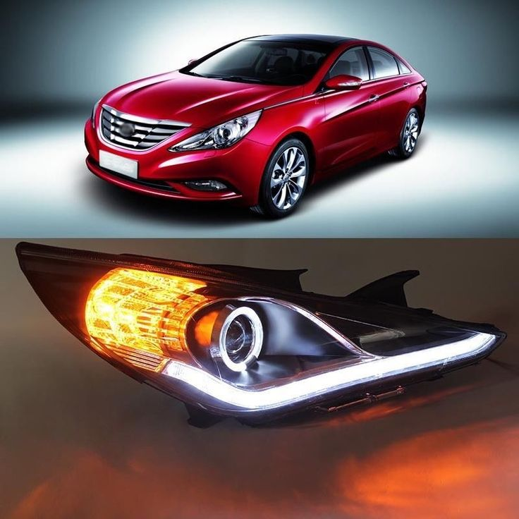 (702.05$)  Watch here - http://aiaev.worlditems.win/all/product.php?id=1784626186 - Superb Arrogance Waterflow LED DRL Angel Eye Headlight for Hyundai Sonata 2012