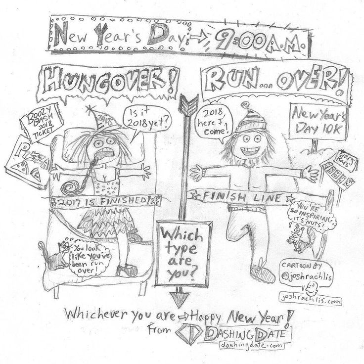 Which type of New Years person are you?  or ?  I drew this for @dashingdate who put on the speed dating event I went to last month. The event was fun but Im still single. In case anyone wants to kiss me at midnight to make our own fireworks!     #cartoon #comicstrip #art #drawing #newyearseve #newyear #happynewyear #runner #fitness #drinking #dating #Ottawa #Toronto #single I am a: #entrepreneur #influencer #celebrityinterviewer #entertainmentreporter #radiohost #comedian #actor #voiceactor…