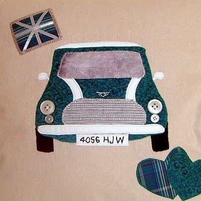 Personalised LOVE my Mini Cooper Cushion £32.00