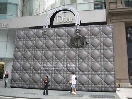 Giant Dior Bag Construction Barricade