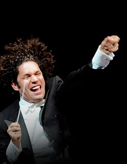 LA/NY rivalry? We're all friends here. Gustavo Dudamel returns to the New York Phil March 27-29 to lead Bruckner's Symphony No. 9 and Vivier's Orion.