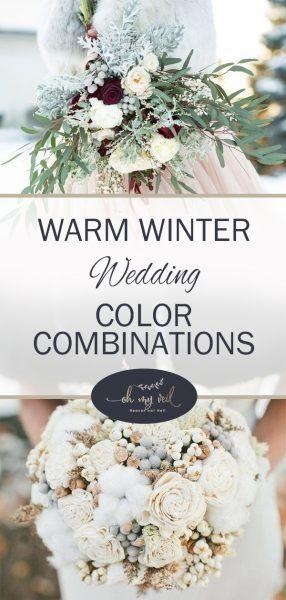 Winter Wedding Color Combinations Diy How To Plan A Colors Weddings Winterwedding