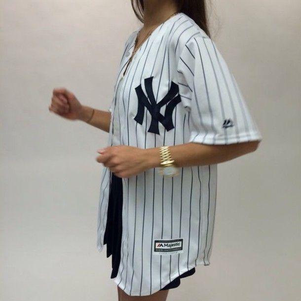 homme style limité super mignon shirt new york city white black blouse tumblr stripes top ...