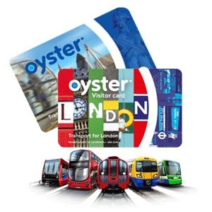 Visitor Oyster Card London - pay-as-you-go smartcard which can be used to pay for all public transport in London. use on all London public transport, including discounted fares on riverboats. You SAVE around 50% by using an Oyster card. can be used at any time but journey prices are more expensive during peak times, before 9.30am & between 4pm-7pm.
