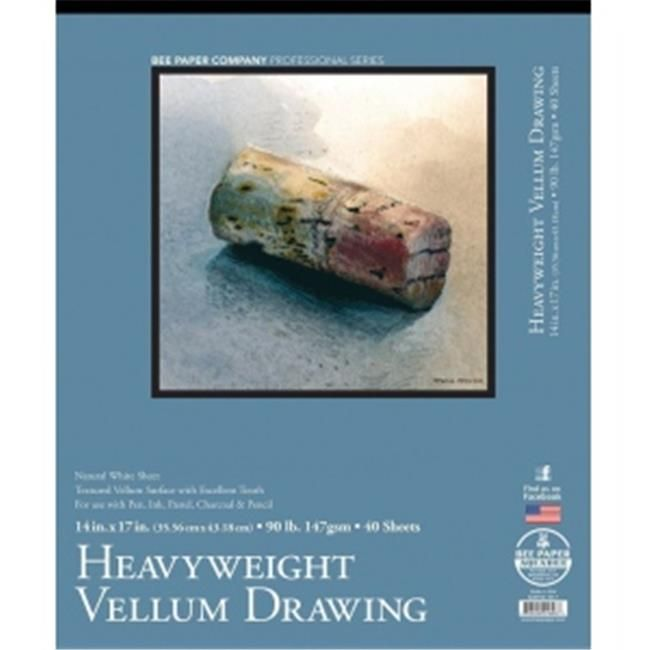 Bee Paper Heavy Vellum Sketch Pad 14-Inch by 17-Inch