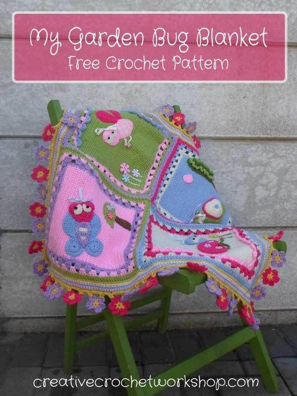 My Garden Bug Blanket - Free Crochet Pattern   Creative Crochet Workshop
