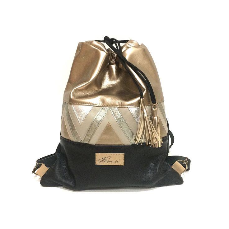 Karmacsi leather backpack