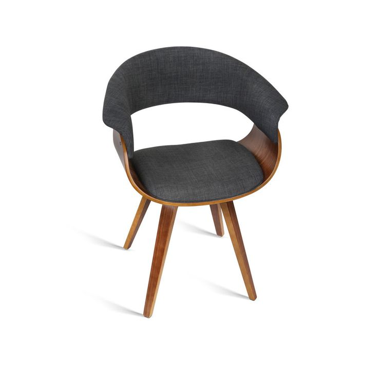 New Dining Chair Bentwood Wooden Timber Kitchen Home Cafe Fabric Charcoal | eBay