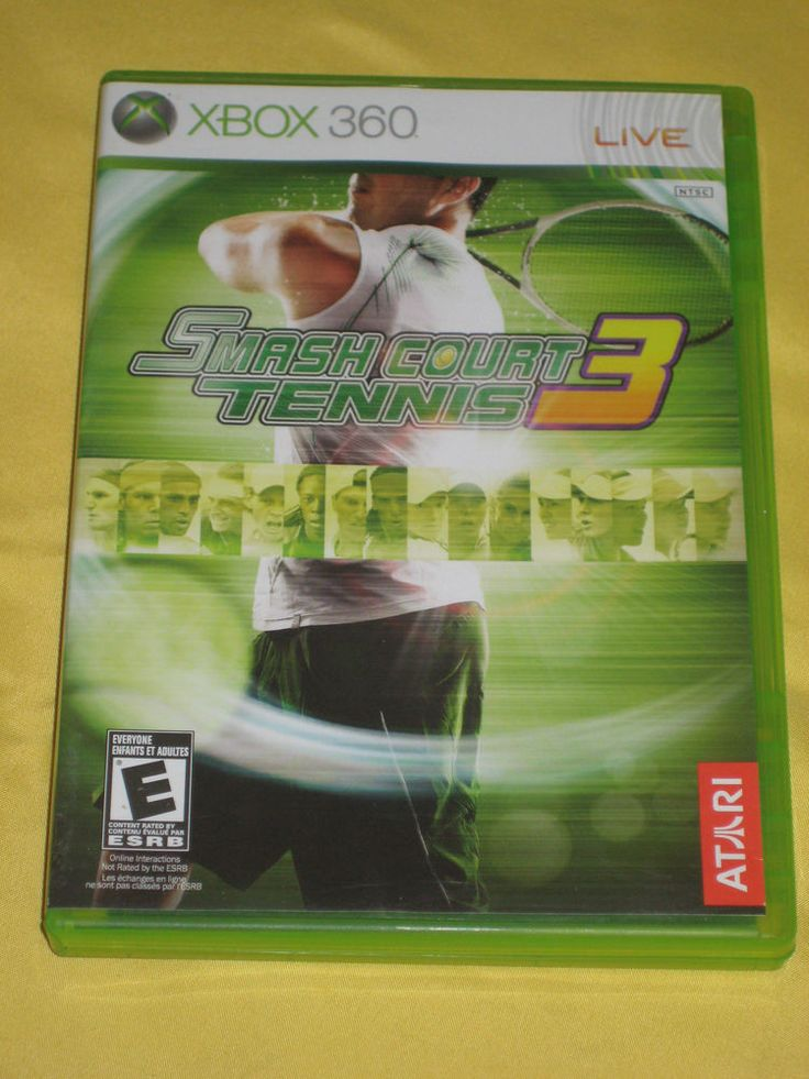 Smash Court Tennis 3 Xbox 360 video game-Eng/Frn books-Rated E-online play *VG | eBay