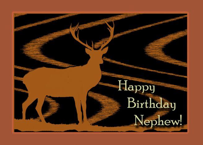 Birthday For Nephew A Deer In The Field Faux Woodcut Print Look Card Ad Sponsored Deer Fie Birthday Brother In Law Happy Birthday Grandson Deer Decal