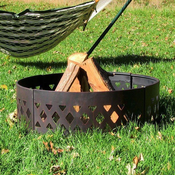 "Sunnydaze 36"" Heavy Duty Crossweave Campfire Ring"