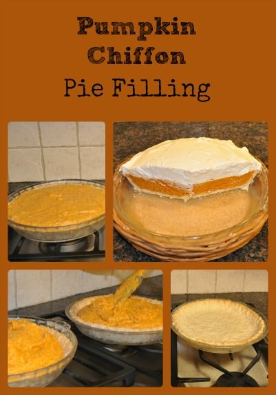 Pumpkin Chiffon Pie Filling | Recipe | Pumpkins, Much! and Pies